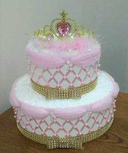 A Little Princess Themed Baby Girl Shower 2 Tier Pink and Go