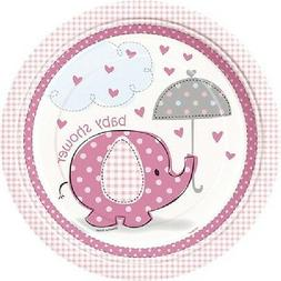 Pink Baby Girl Shower Party SWEET UMBRELLA ELEPHANT LUNCH DI