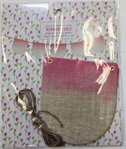 Pink gold Linen Scallop Banner Party Supplies baby shower gi