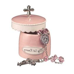 Pink Rosary And My First Rosary Keepsake Box for Girl From G