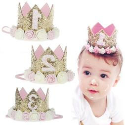 Princess Baby Girl 1st Birthday Flower Crown Party One&Two&T