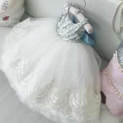Princess Dress Girls Kids Baby Elegant Party Formal Wedding
