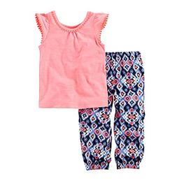 Carter's® Baby Girls' 2-Piece Top And Printed Joggers Se