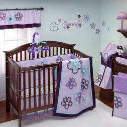Purple Harmony 8 Piece Crib Bedding Set by NoJo Newborn Baby