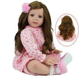 "Realistic 24"" Toddler Reborn Baby Girl Doll Lifelike Vinyl S"