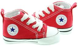 Converse Red White Baby Boy Girl Baby Crib Shoes New Born Al