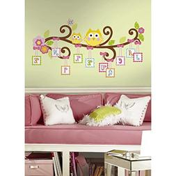 RoomMates RMK2079GM Scroll Tree Letter Branch Peel and Stick