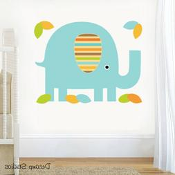 Safari Jungle Animals Elephant Decal Baby Boy Girl Nursery W