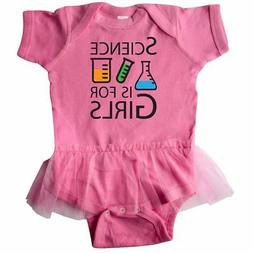 Inktastic Science Is For Girls Infant Tutu Bodysuit Beaker G
