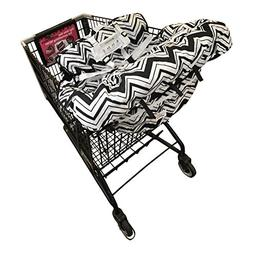 Shopping Cart Cover For Baby- 2-in-1 - Foldable Portable Sea