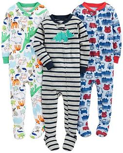 Simple Joys by Carter's Baby Boys' 3-Pack Snug-Fit Footed Co