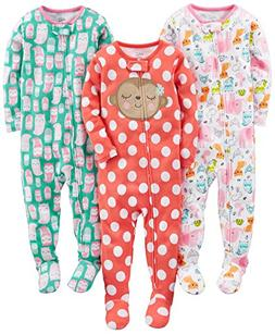 Simple Joys by Carter's Baby Girls 3-Pack Snug Fit Footed Co