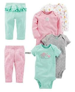 Simple Joys by Carter's Baby Girls' 6-Piece Bodysuits w/Pant