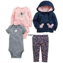 Simple Joys By Carter's Baby Girls 4-Piece Little Jacket w/P