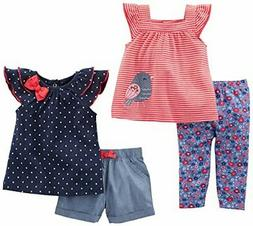 Simple Joys by Carter's Baby Girls' Infant 4-Piece Playwear