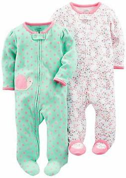 Simple Joys by Carter's Baby Girls' 2-Pack Cotton Footed Sle