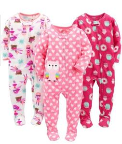 Simple Joys by Carters Baby Girl 3 Pack Flame Resistant Flee