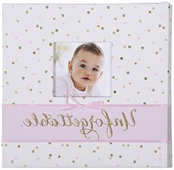 Carter's Pink and Gold Polka Dot Slim Bound Photo Album for