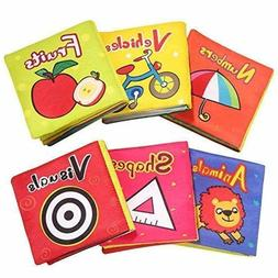 Soft Cloth Books for Babies, Baby Toys 6 to 12 Months Girls,