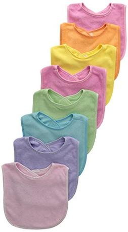 Neat Solutions 8 Pack Multi-Color Solid Knit Terry Feeder Bi