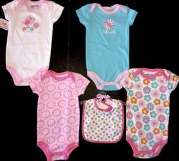 Spring Easter Bodysuits Bib 3-6m 5pc Beautiful Chick NWT Bab