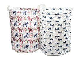 2-Pack ECOHIP Small Storage Bin Fabric - Toy Box/ Toy Storag