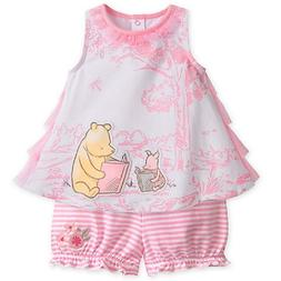 DISNEY STORE SUPER SWEET POOH BLOOMER SET FOR BABY GIRL WOVE