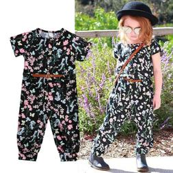 Summer Baby Girl Kid Floral Romper Bodysuit Jumpsuit Legging