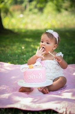 Super Cute Baby Girl First Birthday Cake Smash Outfit  Lace
