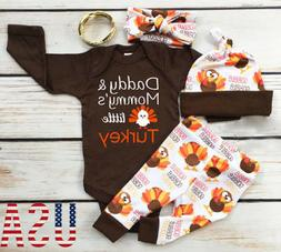 Thanksgiving Baby Boy Girl Romper+Pants Leggings Set Infant