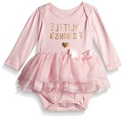 The Children's Place Baby Girls' Long Sleeve Tutu Bodysuit,