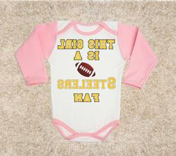 This girl Steelers  FAN NFL baby body children clothing cost