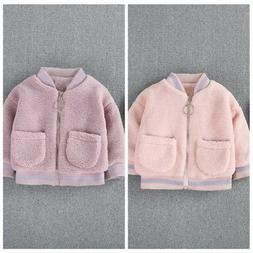 Toddler Baby Boys Girls Coats Fleece Jacket Thick Kids Winte