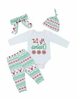 Oklady Toddler Baby Boys Girls Deer Lettler Print Rompers Ou