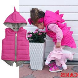 Toddler Baby Girl Dinosaur Hooded Coat Outerwear Kid Jackets