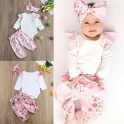 Toddler Baby Girl Kid Long Sleeve Floral Outfits T-shirt Top
