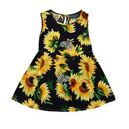 Goodtrade8 Toddler Baby Girl Ruffle Lace Sunflower Princess