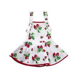 Goodtrade8 Toddler Baby Girl Sleeveless Strawberry Print Rom