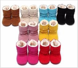 Toddler Infant Baby Girl Boys Fur Warm Shoes Soft Cotton Boo