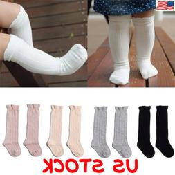 Toddler Kid Baby Girl Boy Knee High Long Socks Winter Cotton