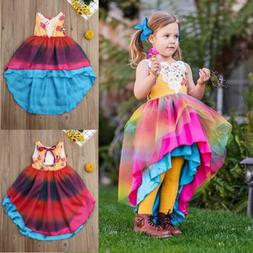 Emmababy Toddler Kids Baby Girl Flower Dress Lace Tulle Part