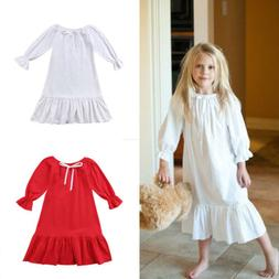 Toddler Kids Baby Girl Princess Party Cotton Dress Long Slee