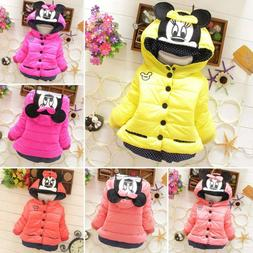 Toddler Kids Girls Minnie Hoodie Jacket Hooded Parka Coat Wi