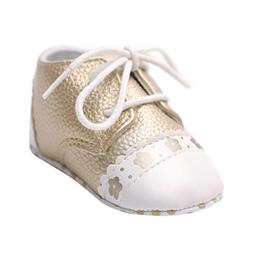 Voberry Toddler Baby Lace up Splice Soft Soled Anti-slip Sne