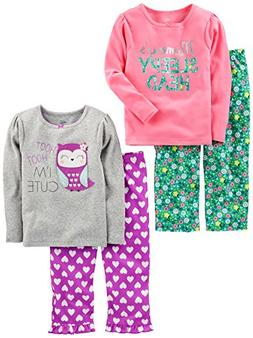 Simple Joys by Carter's Baby Girls' Toddler 4 Piece Pajama S