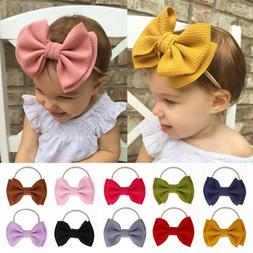 Turban Head Wraps Girls Baby Knotted Big Bow Headband Nylon