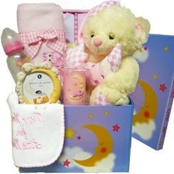 Twinkle Twinkle Little Star Baby Care Package Gift Box, Pink
