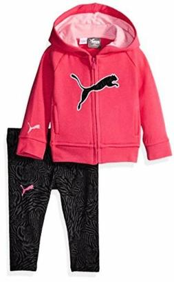 PUMA  Childrens Apparel Baby Girls 2 Piece Floral Print Long