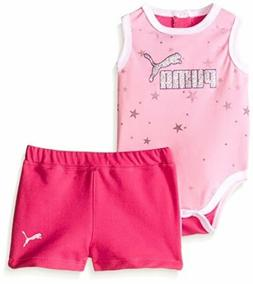 PUMA  Childrens Apparel Baby Girls Star Bodysuit and Short S