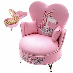 """Unicorn Kid Jewelry Box For Baby Girls - Pretty Pink Color """""""